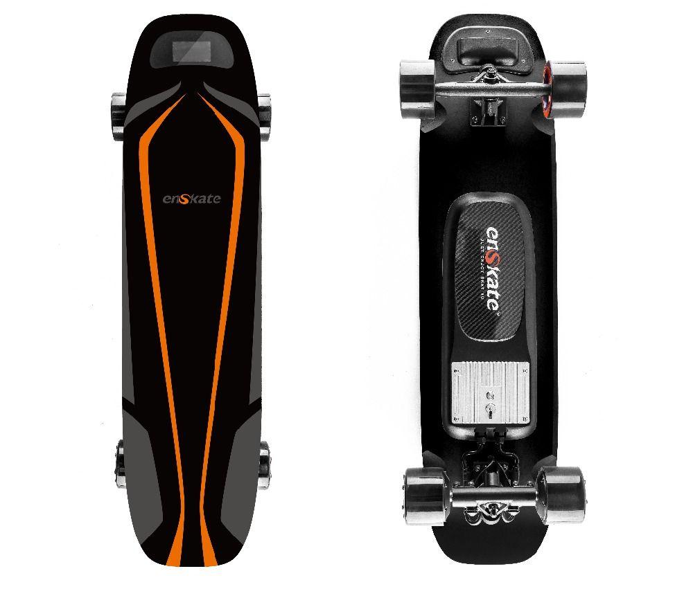 Woboard S Elektrische Skateboard Longboard Bord Fernbedienung 4 Räder Dual Motoren 500 W mit Led-bildschirm 4 Geschwindigkeit Modi