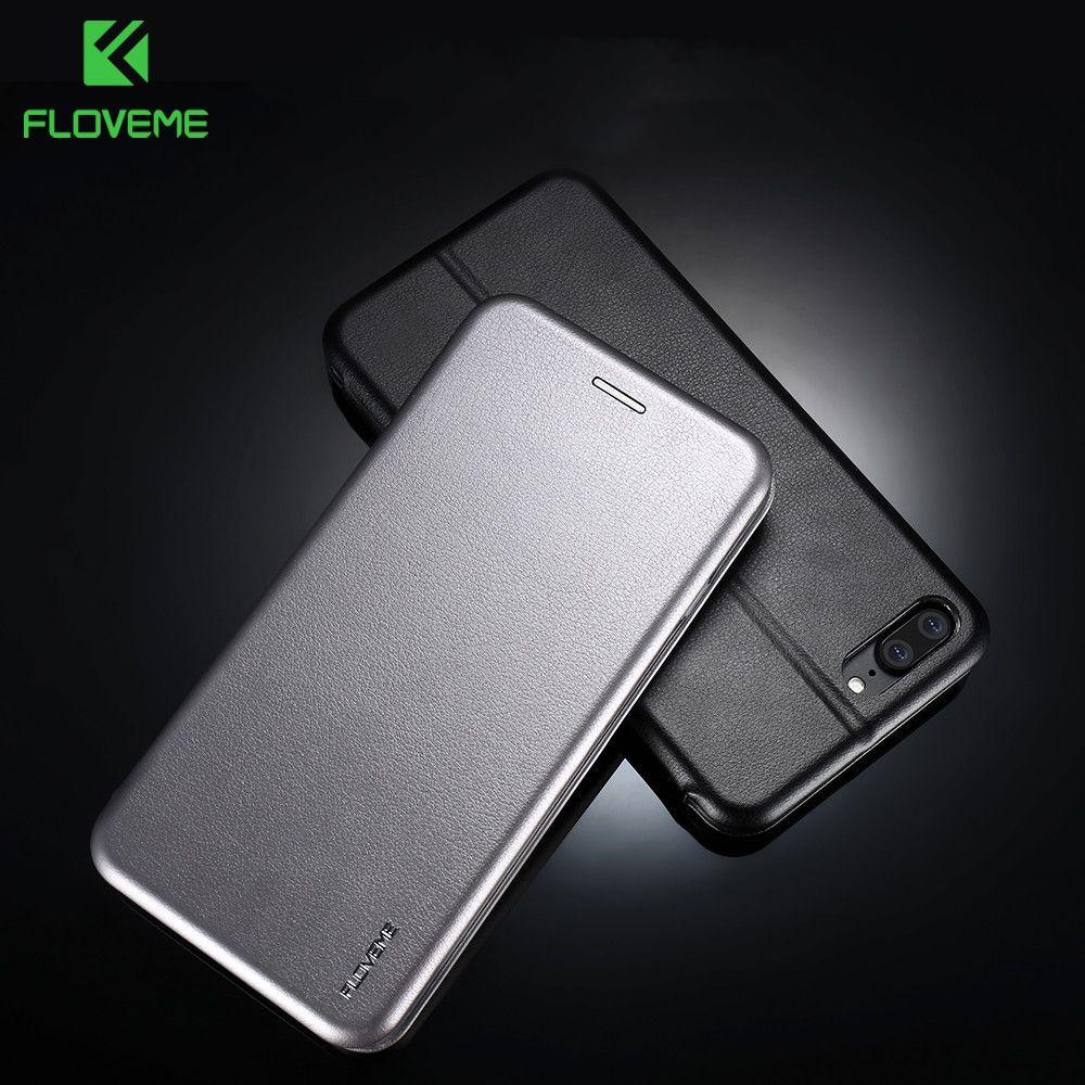 FLOVEME D'affaires 360 Degrés Complet De Protection En Cuir Étui Pour iPhone7 iPhone 6 6 s 7 Plus Portefeuille Couverture Pour iPhone 7 Flip Cas