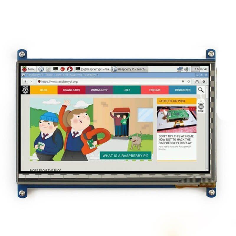 Elecrow Framboise Pi 3 Affichage 7 Pouce Écran Tactile HDMI HD LCD TFT 1024X600 Moniteur pour Raspberry Pi 3 2B B Pcduino Win7 8