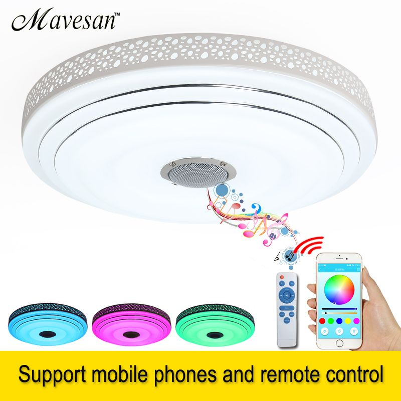 2018 RGB LED ceiling Lights Dimmable with Bluetooth & Music 90-260V <font><b>modern</b></font> 36W Led led plafond for 5-15Square meters kids room