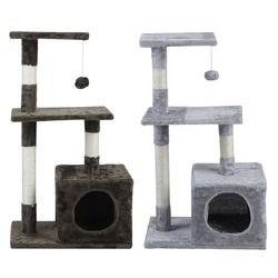 Gato árbol 85 cm altura rápida mascotas rascarse puestos muebles rascadores gato saltando juguete para gatos escalada marco del gato condominios