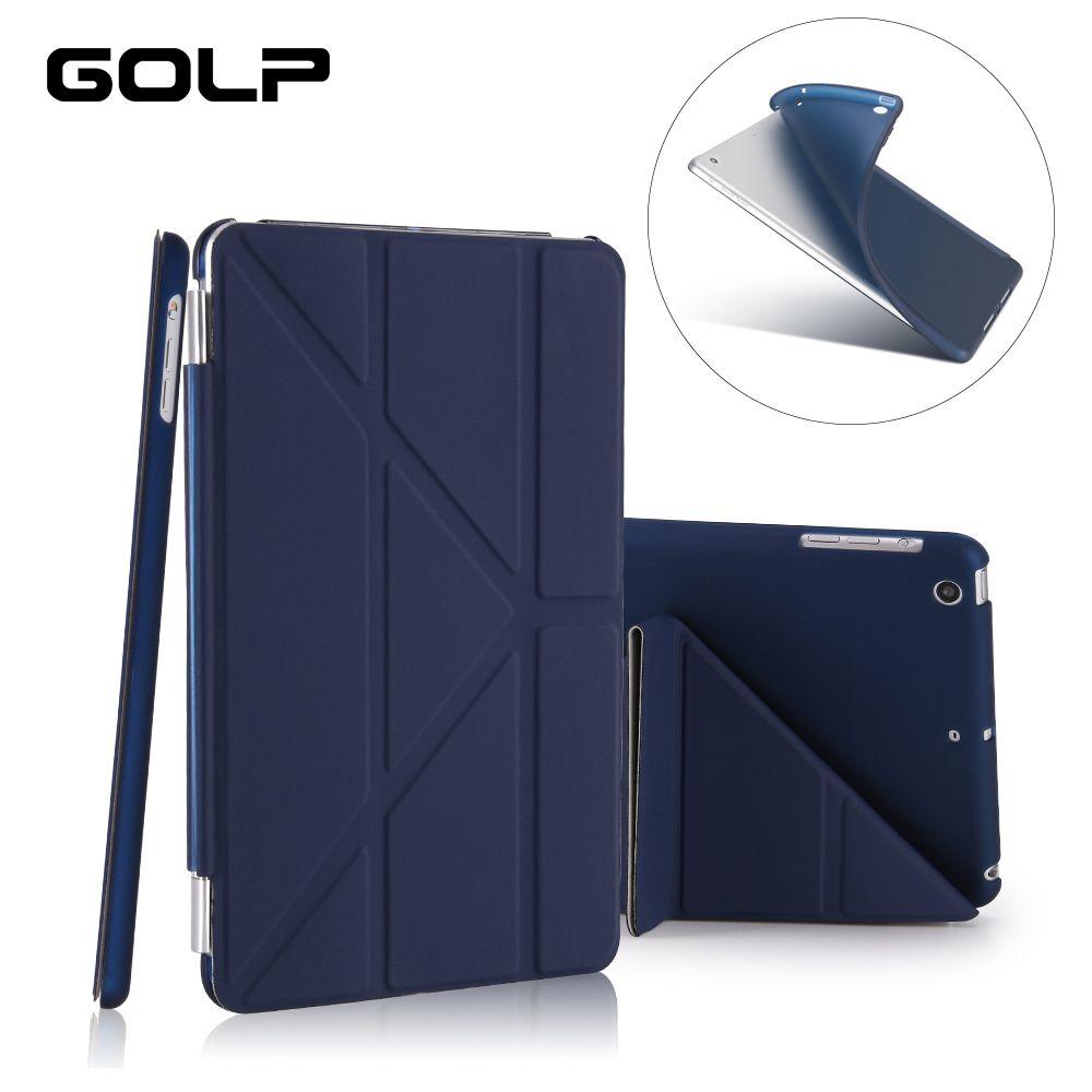 Cas pour iPad Mini 2/Mini 3/Mini 1 Cas PU En Cuir Ultra Mince + Tpu Retour Smart Cover pour ipad Mini cas