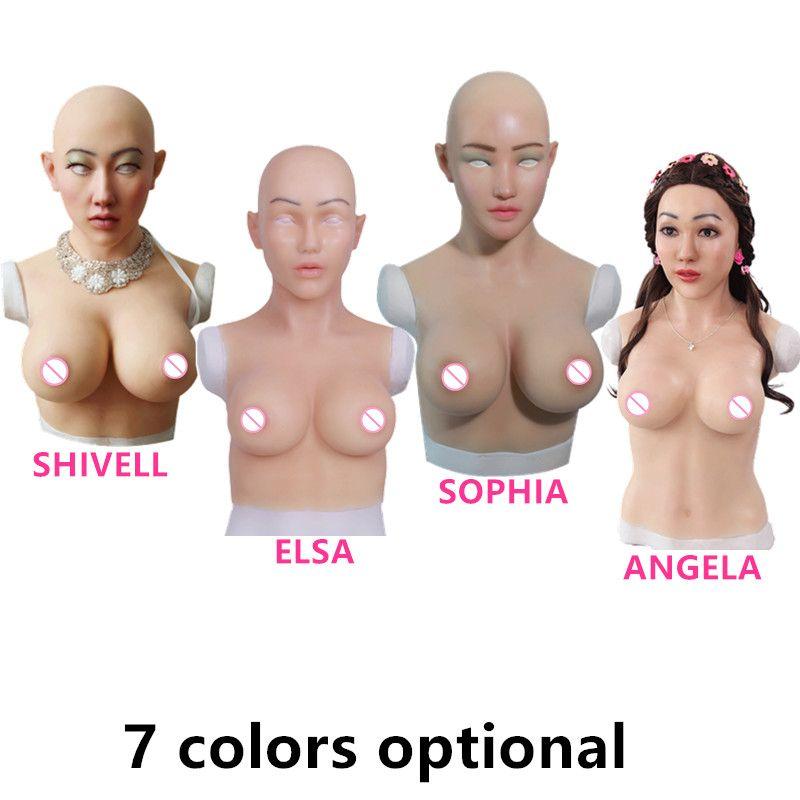 C E Tasse Künstliche Brüste Silikon Brust Formen Realistische Gefälschte Silikon Gesicht Für Transgender Crossdresser Transvestismus Dragqueen
