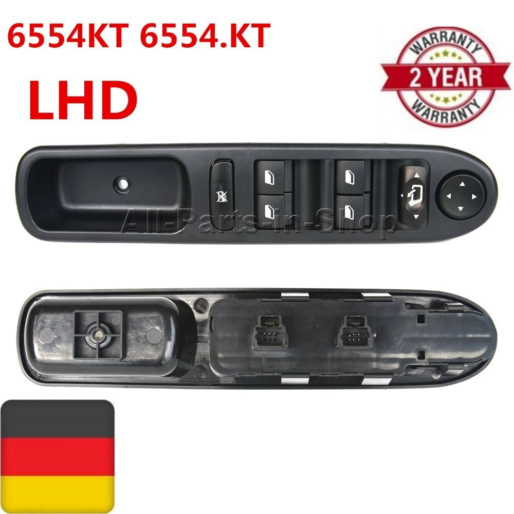 6554KT 6554.KT For Peugeot 307 CC 2003-2008 307 SW 2002-2014 Old Models LHD Window Switch Electric Folding