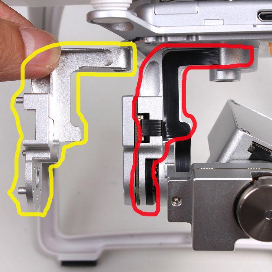 DJI Phantom 3 Standard Gimbal Repair Kit Protector Guard Yaw Roll Bracket Cover Cap DIY Replacement for DJI Phantom3 Standard