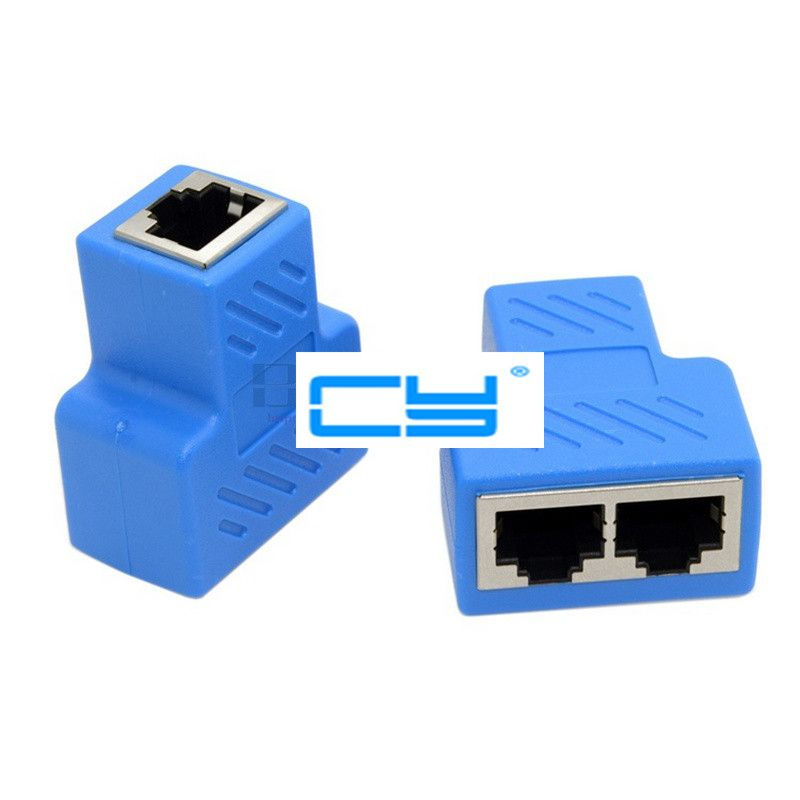RJ45 1 in 2 out converter, STP UTP Cat6 RJ45 RJ 45 8P8C Plug To Dual RJ45 Splitter Network Ethernet Switcher Adapter connector