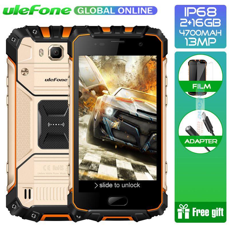 Ulefone IP68 Waterproof Armor 2S Smartphone Android 7.0 2GB 16GB MT6737T Quad core 5.0