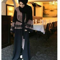 2018 new Adult Casual lace cotton Robe Musulmane Turkish Printed Abaya  Muslim Dress Cardigan Robes Arab Worship Service Wj459