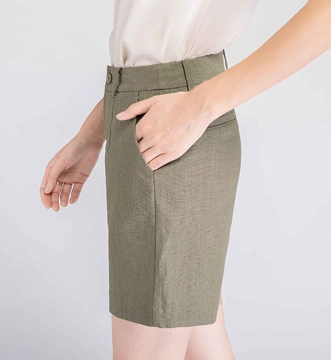2018 new Shorts polished silk short-striped denim shorts white powder women's clothing QD1-QD17