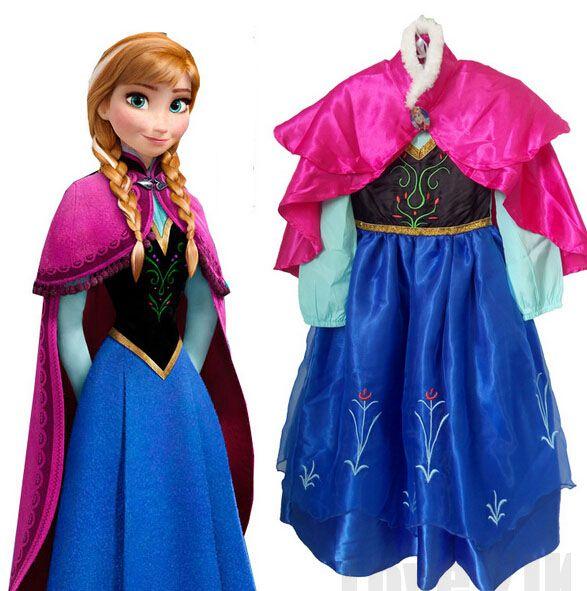 2018 vente chaude Elsa Anna filles princesse enfants robe fête Fantasia Vestidos nourrissons robes d'été bébé enfants robes personnalisées
