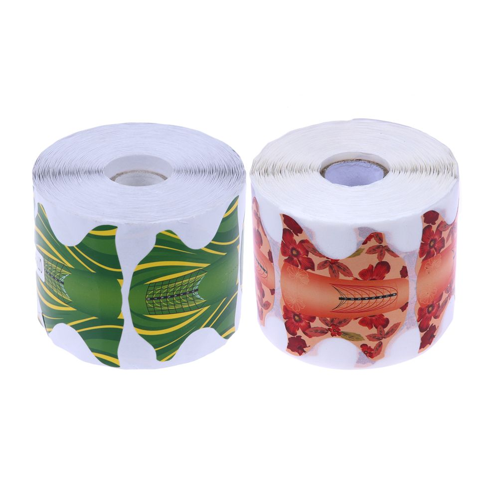 500 Pcs/Roll Papillon Forme Nail Art Forme Professionnel DIY Manucure Conseils Extension UV Gel Autocollant Guide Nail Formes Nail Outils