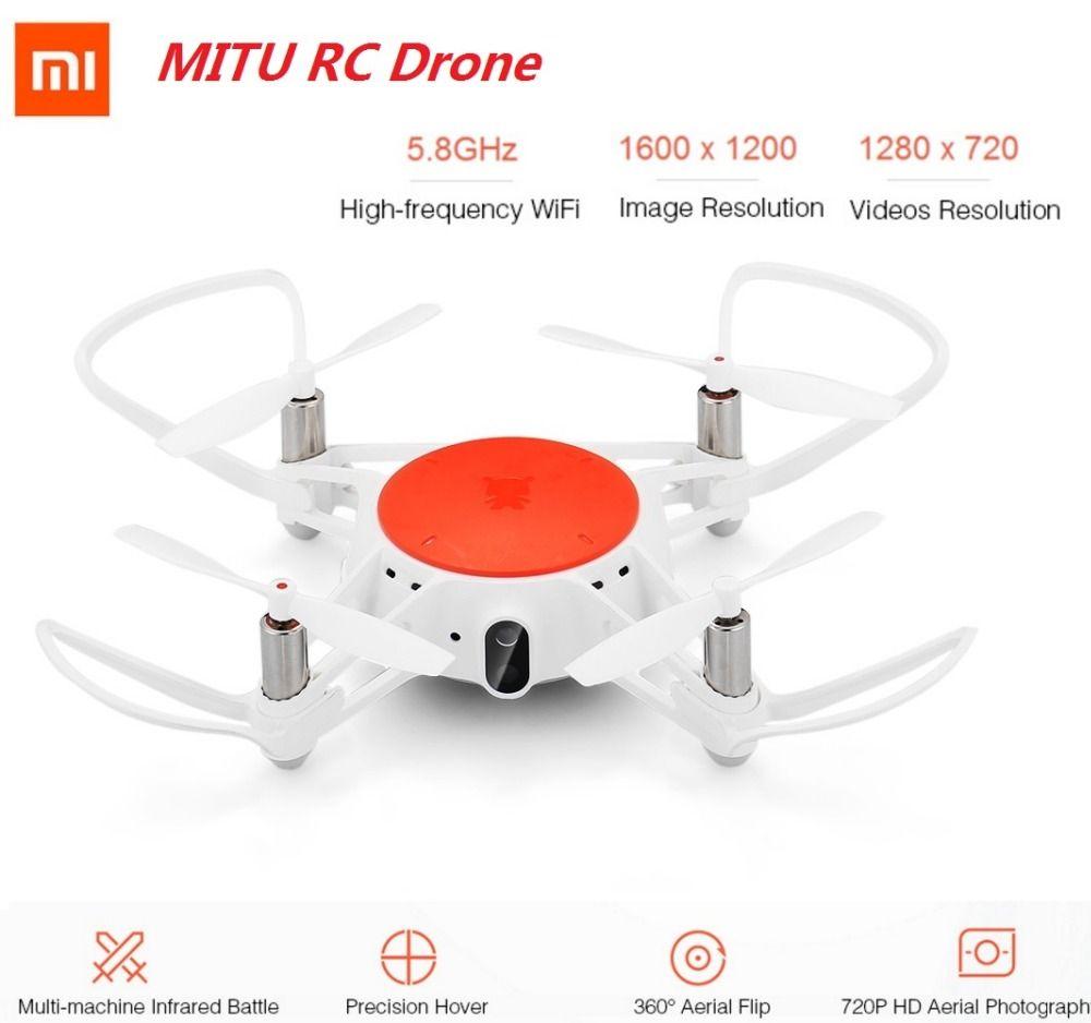 Xiaomi MITU RC Drone WIFI FPV 360 Tumbling 720P HD Camera Multi-Machine Infrared Battle Camera Drone BNF App Remote Control