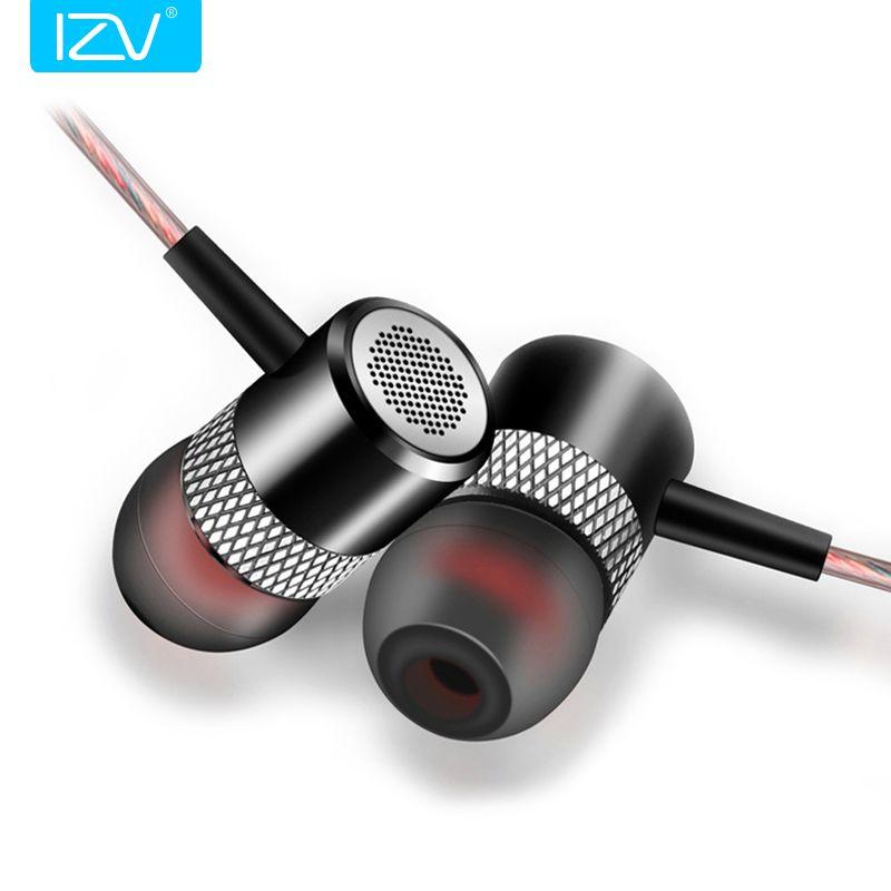 Nouveau IZV G1 In-Ear Écouteurs HIFI Qualité Sonore fone de ouvido Métal Subwoofer Casque avec Mic Appels Mains Libres pour xiaomi