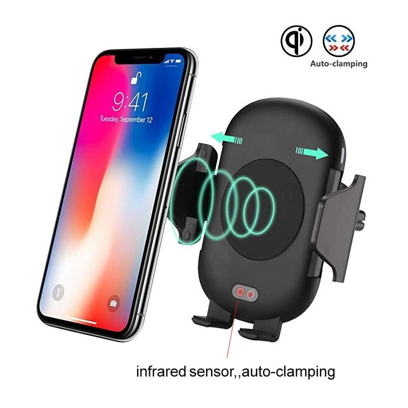 Fast Wireless Car Charger for Iphone X Samsung S8 S9 Car mount holder Qi wireless charger