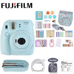5 Colors Fujifilm Instax Mini 9 Instant Camera Photo Camera 2 Options/MINI 9+13 in 1 Kit Camera Case Filter+Album+Sticker+Other