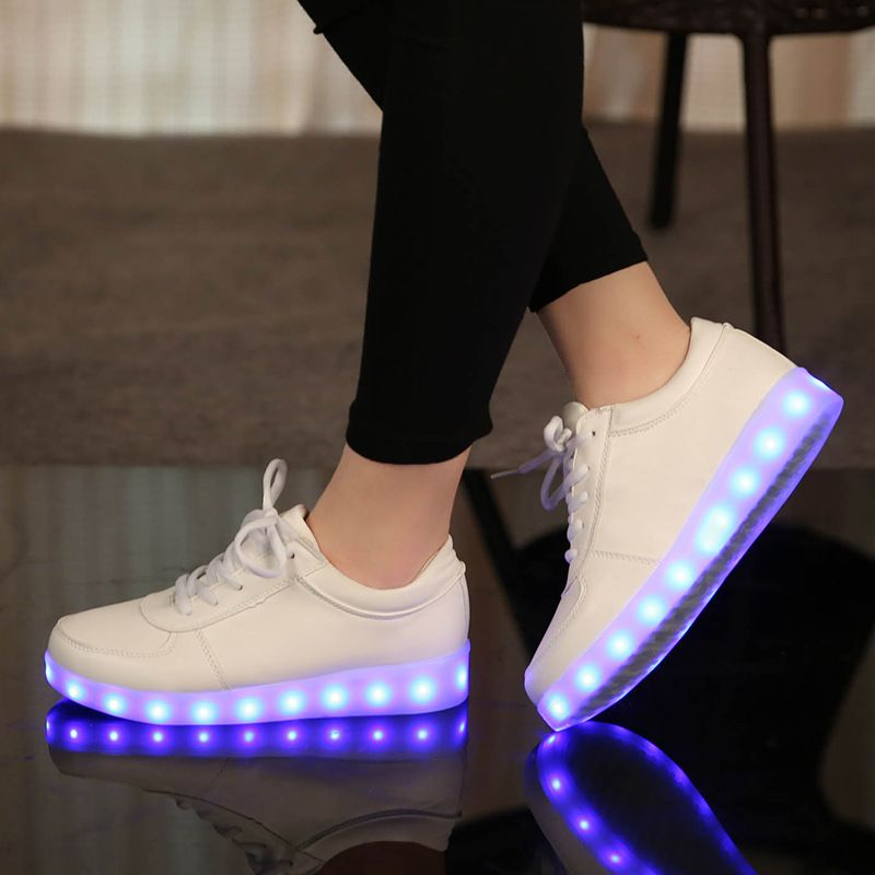 Rechargeable luminous sneakers boys casual Led children shoes kids with lights up illuminated glowing led sneakers for girls 001
