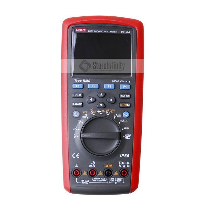 True RMS Datalogging Digital Multimeter UNI-T UT181A DMM Capacitance Temperature Meter w/Re-Chargeable Diagnostic-Tool
