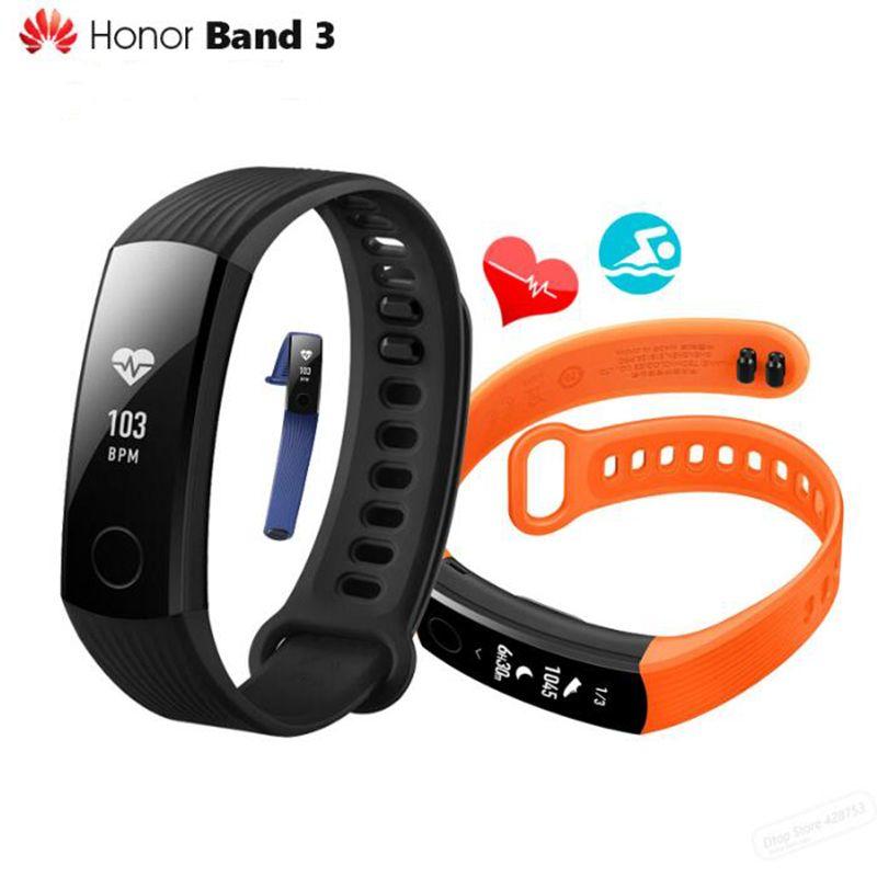 Original Huawei Honor Band 3 Smart Wristband Swimmable 5ATM 0.91