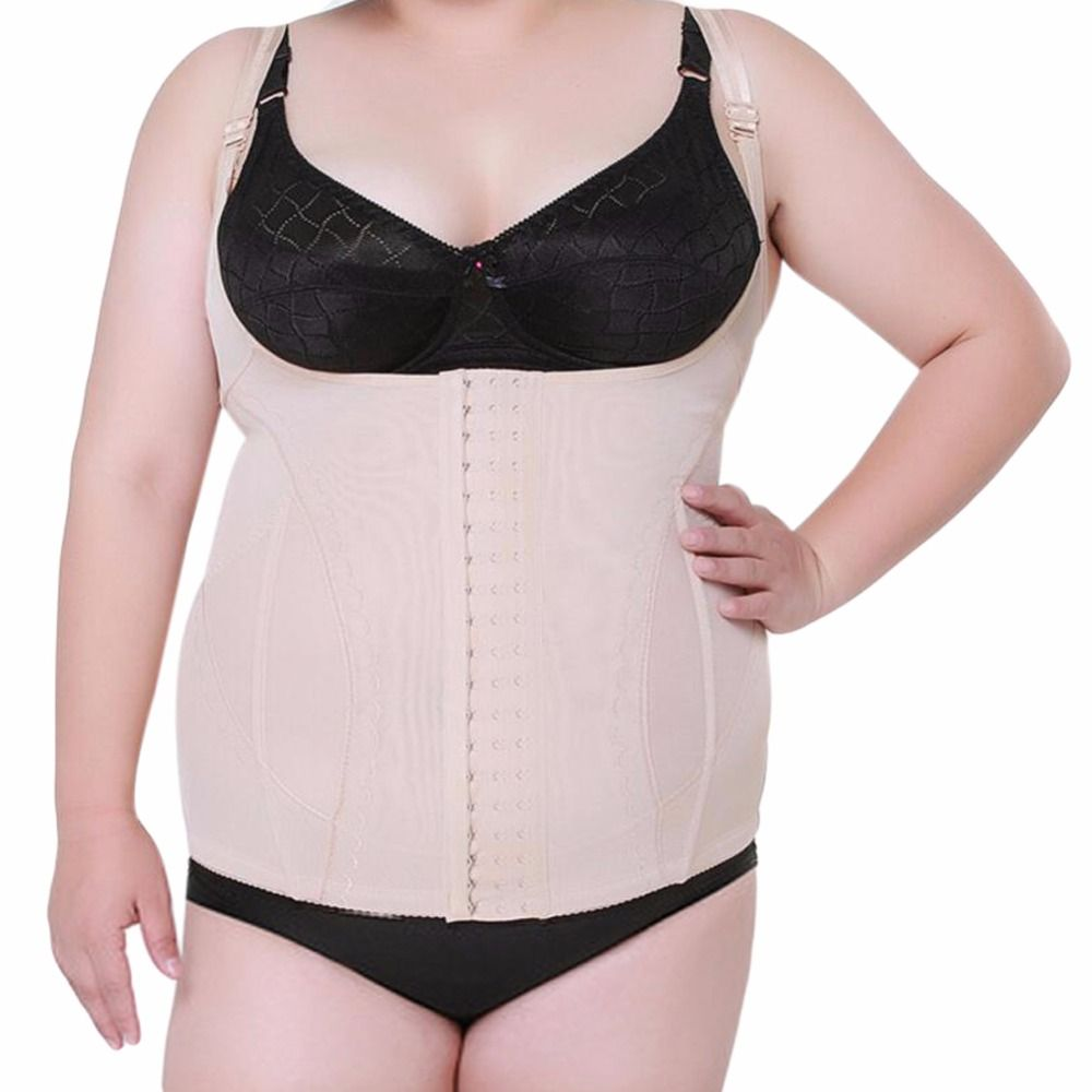 Large Plus Size Women's Shaper Tops Underbust Corset Waist Trainer Corset Cincher Body Shaper Vest Belt Tummy Slimming Shapewear