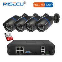 MISECU 4CH POE 1080 P NVR 4 шт. 1.0mp 15 В в PoE IP камера P2P HDMI 1080 P CCTV системы наблюдения ИК Ночное Видение out/Крытый ПК и телефон