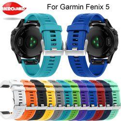 12 couleurs Souple En Silicone Remplacement bracelet Bande de Montre bracelet sangle pour Garmin Fenix 5 Pour Smart Montre 22mm bracelet sangle