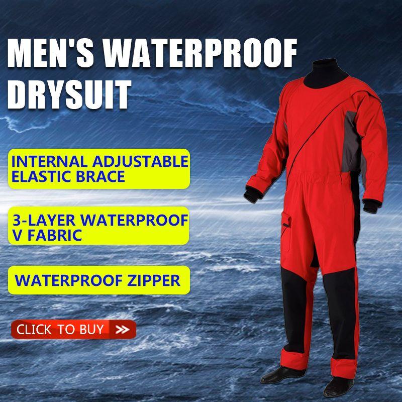 Männer wasserdichte kleidung trocken anzug wasserdicht und atmungsaktiv warme und kalt-beweis einteiliges anzug, nautischen angeln anzug