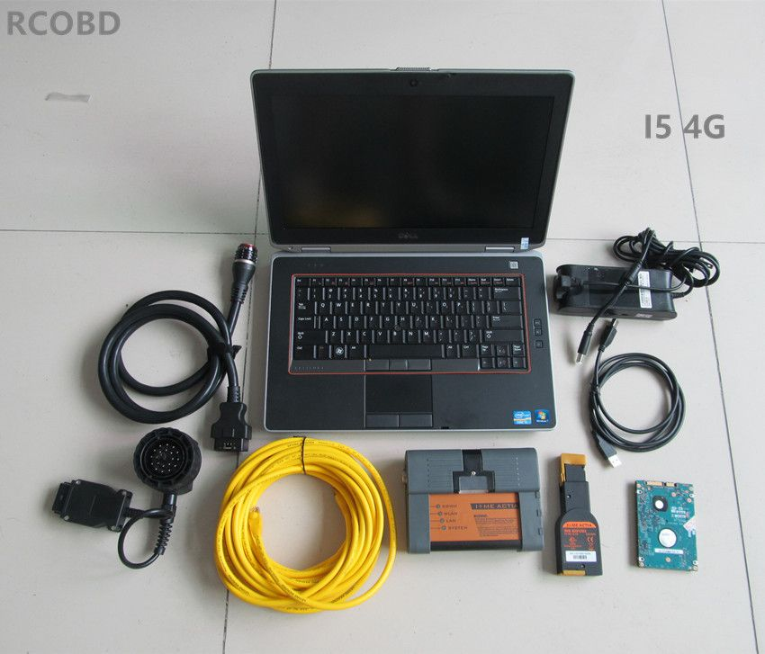 for bmw icom a2+hdd 500gb newest software 2018.05+laptop E6420 I5 4g (ista d 4.10 ista p 3.64) expert mode window7 ready to use