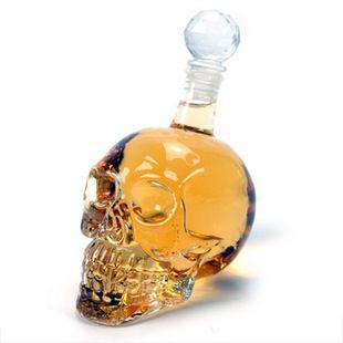 Un 1000 ML Creative Cristal Crâne Extra Large Rouge Vin Bouteille Vodka En Verre Un Verre Bouteille Verres à Whisky X615-1