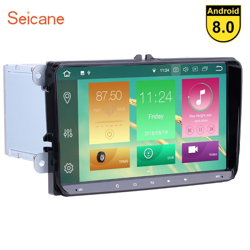 Seicane Android 8.0 9 inch Car radio GPS Navigation Stereo Player for VW Volkswagen Scirocco Golf Polo Passat b5 Jetta Tiguan