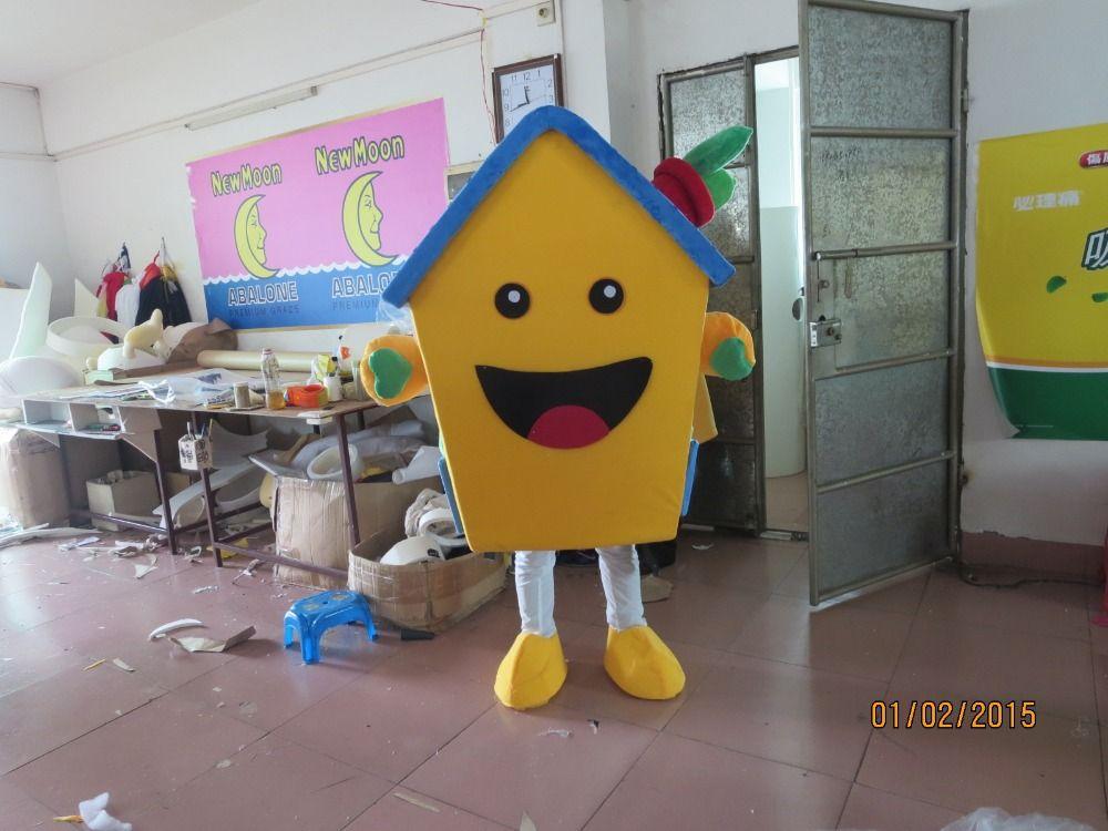 Venta caliente 2014 adultos traje de la mascota del personaje de dibujos animados encantadora casa fancy dress party tamaño disfraces adultos