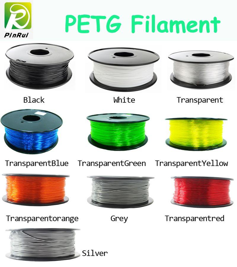 Hot petg filament 1.75mm 1kg <font><b>good</b></font> quality petg plastic filament PETG 3d printing filament high strength 3d printer filament