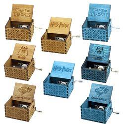 Harry Potter Star Wars belleza y la Bestia caja de música de madera de regalo para chirstmas Feliz cumpleaños niños regalo de Año Nuevo regalo