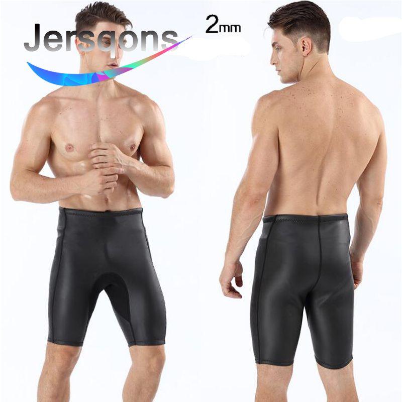 Jersqons Männer 2mm Triathlon Neopren Auftrieb Badeanzug Shorts Speedo herren Bade Glatte Haut Tauchen Bademode Hosen