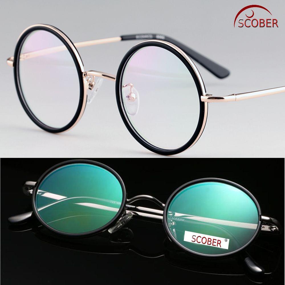 SCOBER = lunettes de lecture à revêtement antireflet VINTAGE 40 S rondes de classe supérieure du sénateur lunettes en alliage de titane + 0.75 + 1 à + 4