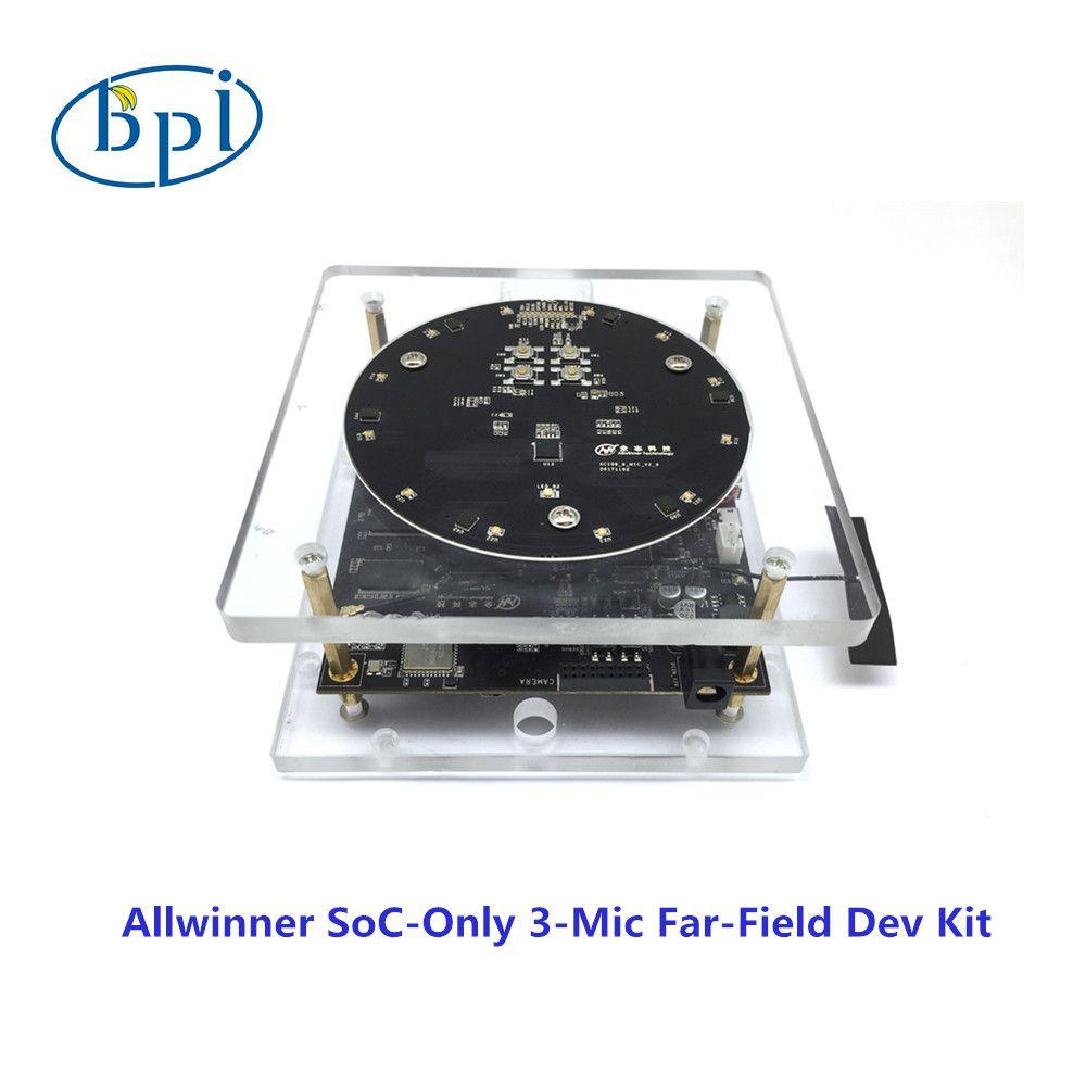 Allwinner official development board with Allwinner SoC-Only 3-Mic Far-Field Dev Kit
