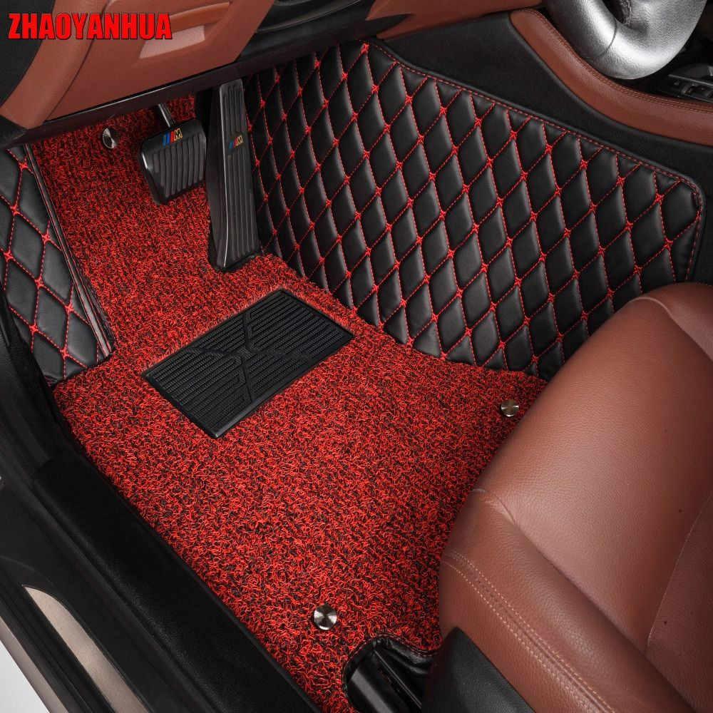 ZHAOYANHUA car floor mats for BMW X6 E71 E72 F16 all weather case waterproof 5D car styling high quality rugs carpet liners
