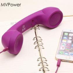 Mvpower anti-radiación cable Auriculares para móviles auriculares portátil Auriculares con el Mic para todo tipo teléfono teléfonos celulares Tablets