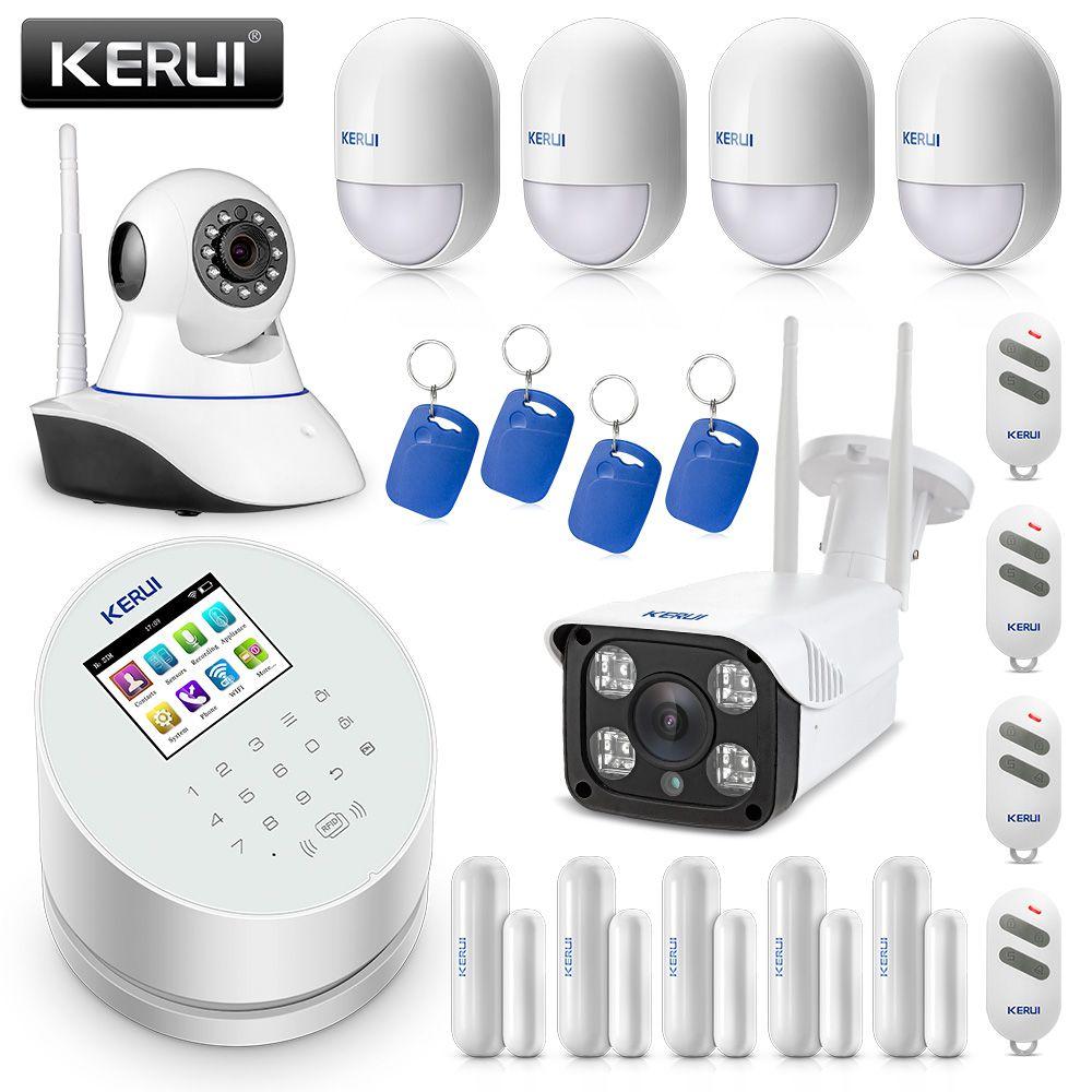 Original KERUI W2 WIFI GSM PSTN Sicherheit Alarm System Smart Home Mit IP WIFI Kamera RFID Disalarm Einbrecher Alarm System