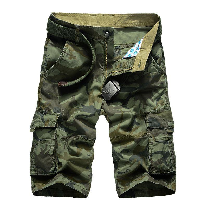 Camouflage Camo Shorts Cargo Hommes 2018 Nouveaux Hommes Occasionnels Shorts mâle Lâche Travail Shorts Homme Militaire Pantalon Court Plus La Taille 29-44