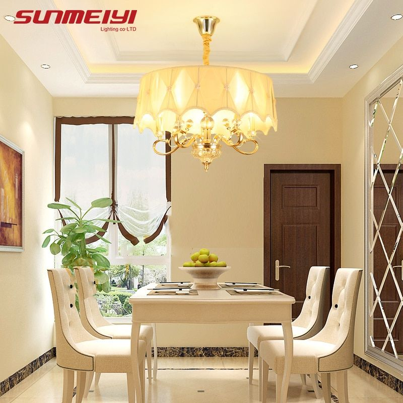 Gold LED Crystal Chandeliers lustre moderno Bedroom Living room candelabros decorativos Adjustable Chandelier Lighting