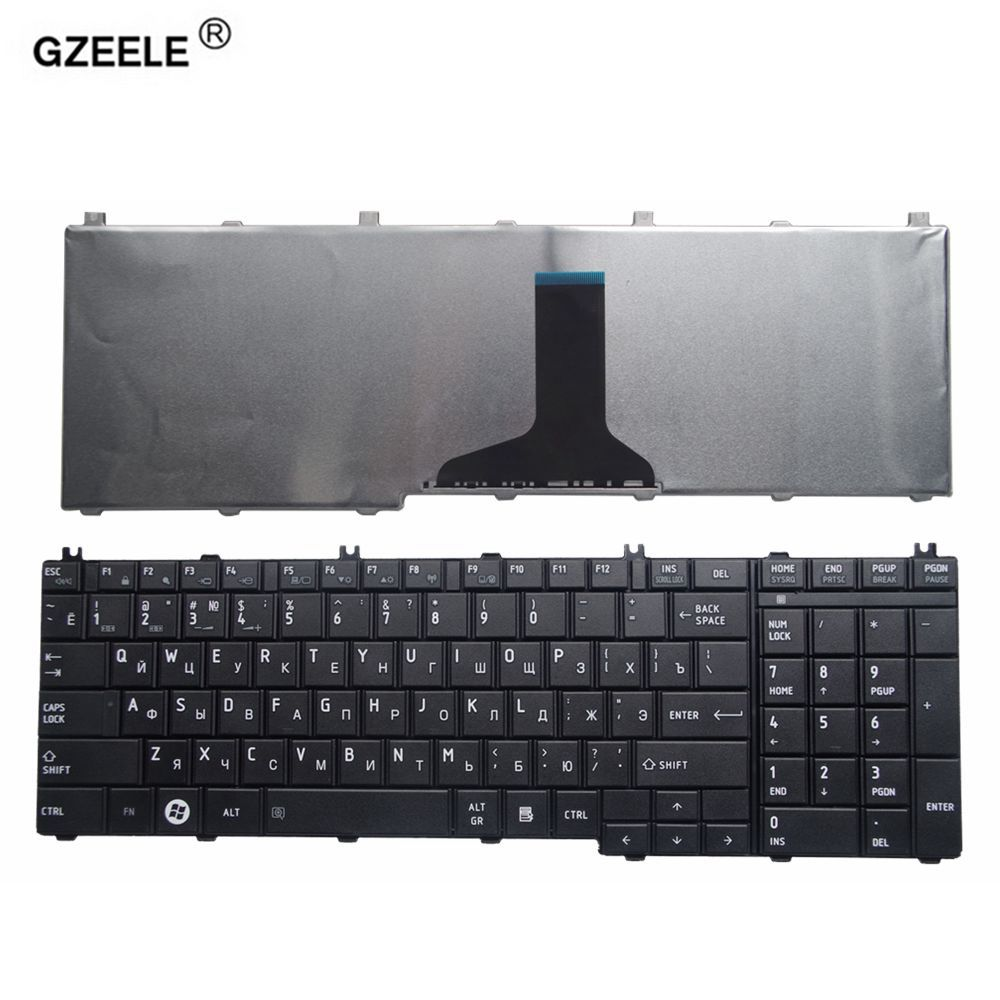 GZEELE russian laptop Keyboard for toshiba Satellite C650 C655 C660 C670 L675 L750 L755 L670 L650 L655 L670 L770 L775 L775D RU
