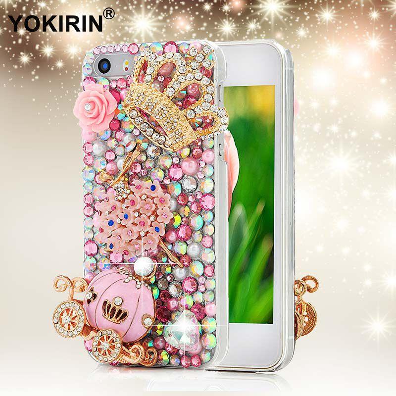 YOKIRIN 3D Main En Cristal de Diamant Strass Couverture de Téléphone Cas pour iPhone 5 5S 5C 6 6 S Plus pour Samsung Galaxy S6 Bord Note 5
