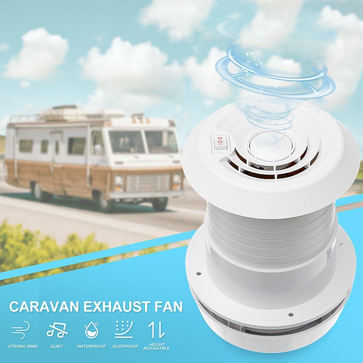 WARMTOO 1Pcs 12V RV Energy-saving Motorhome Roof Vent Ventilation Cooling Exhaust Fan Noiseless For Travel Motor Homes Trailer