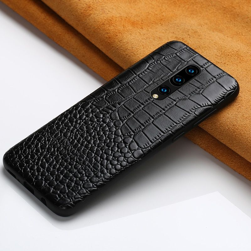 Genuine Leather Case For Oneplus 7 7 Pro 6 6T Phone Cover for One Plus 5 5T 6T luxury marvel 360 Full Case crocodile Garin Armor