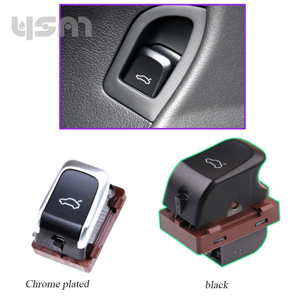 New Trunk Chrome Switch Trunk Lid Control Button For A4 B8 2008 - 2015 A5 8T Q5 8R S4 S5 8K0 959 831 8KD 959 831 A 8KD959831A