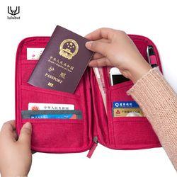 Luluhut паспорт сумка для хранения Функциональная сумка Портативный Обложка для паспорта, документов Организатор кредитной карты удостоверен...