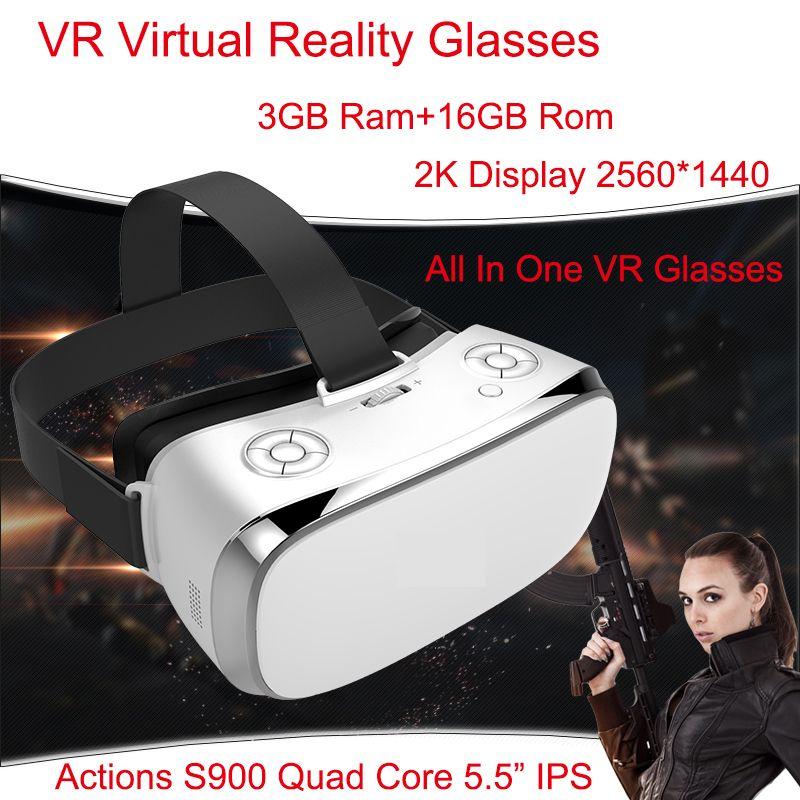 3 GB Ram VR Tout En Un Lunettes Lunettes de Réalité Virtuelle V3H 2 K affichage S900 Quad Core 1.7 GHz 5.5 pouce 16 GB Rom Wifi 3D VR lunettes