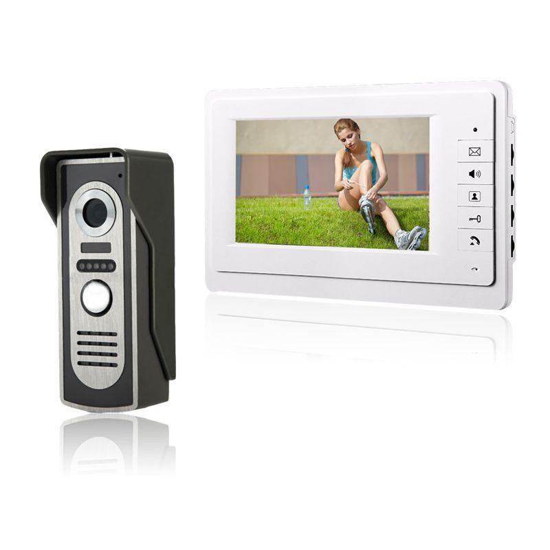 HD 7 ''TFT farb-video-türsprechanlage Intercom Türklingel System Kit IR Kamera Türsprechanlage Monitor Freisprecheinrichtung Intercom