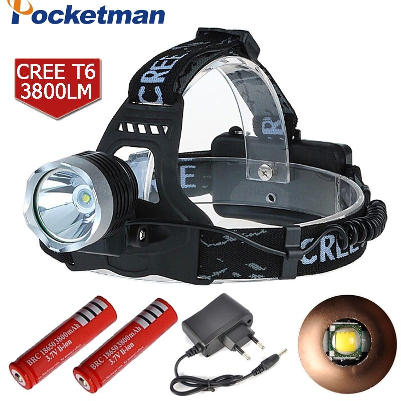 Led Headlamp 3800Lm CREE T6 Head Lamp Light Headlight Flashlight Linterna Fishing Camping Hiking Cycling Headlamp ZK93