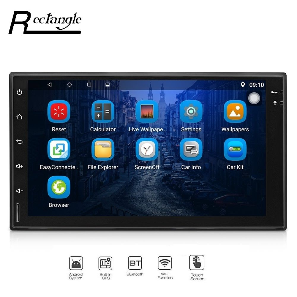 7023 Android 6.0.1 Car Radio Player GPS Navigation Universal 2Din Ultra-thin WiFi DVR Support TF Video Output and RDS Function